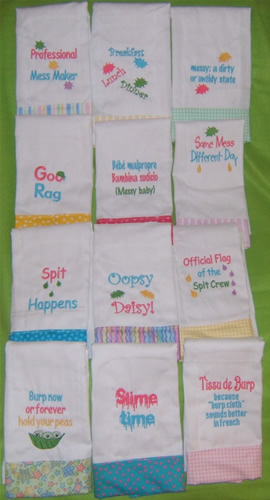 Burp Cloths Patterns Free Patterns