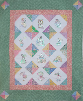 12 charming mylar designs along with instructions to make a sweet baby quilt