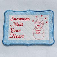 ITH Mug Rugs - Snowmen